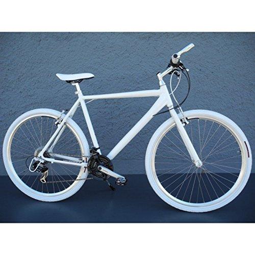 "28"" Zoll Crossbike Alu Herren Trekking Fahrrad MTB Shimano 21 Gang weiss B Ware"