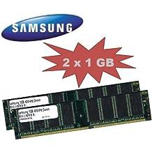 2GB Dual Channel kit: Samsung Original 2x 1024MB, 184pines, DDR-400, 400(400MHz PC de 3200CL3) DIMM 64Mx8x 8Single Side para PC 's–100% compatible con 333MHz PC de 2700/266MHz PC-2100