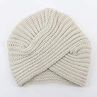 JoyFan Boemia Imitazione Cashmere Cappello di Maglia Copricapo a Maglia  Cross Baotou Cappello Invernale 4af07ad46b23