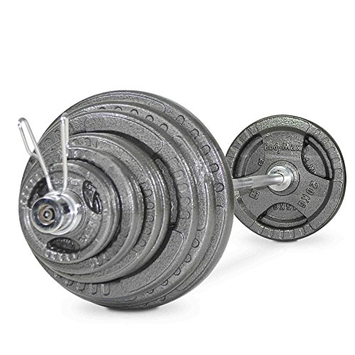 Bodymax 235kg Olympic Cast Tri-Grip Barbell Kit with 7ft Bar