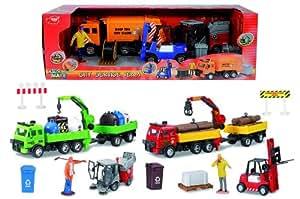 Dickie 203414616 Kids mate - City service team (Sweeper)