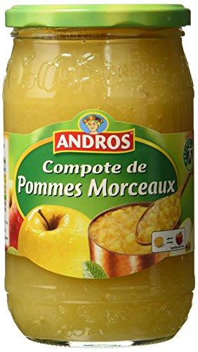 Andros Compote de Pomme en morceaux 740 g - Lot de 3