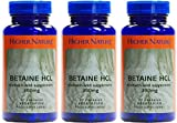(3 PACK) - Higher Nature - Betaine Hcl | 90