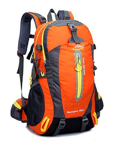 Ben Sports 40L Large Capacity Wandern Rucksack für Männer und Frauen, Outdoor Breathable Wasserdichte Rucksack, Wandern Daypack Orange