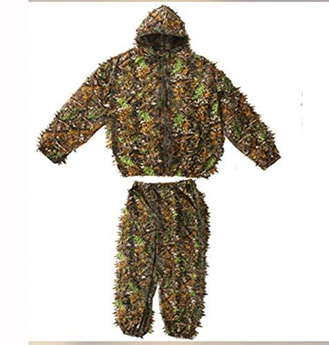 Poser Ghillie Suit Adult Outdoor Tarnung 3D Dschungel Blatt Tarnung Top Jagdanzug Armee Airsoft Schießen Halloween