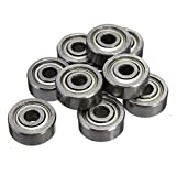 ILS - 10 pieces 623ZZ 3x10x4mm Ball Bearings Shielded Radial Ball Bearing