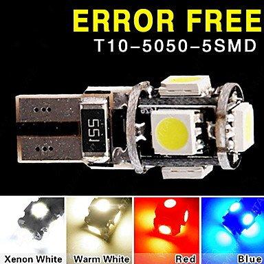 lot-t10-194-w5w-led-5-smd-5050-can-bus-fehlerfrei-auto-keilseitengluhlampelampe-lichtfarbe-blau-