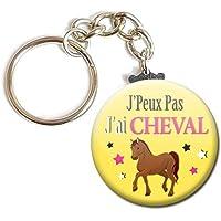 Porte Clés Chaînette 3,8 centimètres j' peux pas j' ai Cheval Idée Cadeau Accessoire Humour Loisir Hobby Passion Excuse