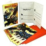 Unique Party Supplies Drachenzähmen Leicht Gemacht 6 Einladungskarten mit Umschlag für Kinder-Geburtstag Oder Motto-Party