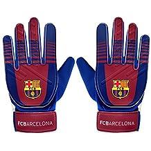 ae3140c69d Barcelona - Réplica Oficial Licenciado ... FC Barcelona - Guantes de portero  oficiales - Para niños - Chicos  5-10