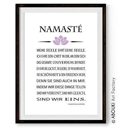 """Namasté"" - Kunstdruck ungerahmt, DIN A4"