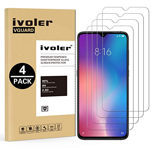 VGUARD [4 Pack] Tempered Glass Film for Xiaomi Mi 9 SE [Lifetime Warranty], Protective Film Screen Protector for Xiaomi Mi 9 SE