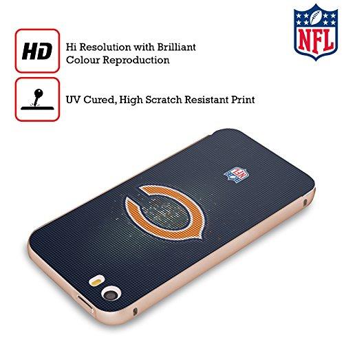 Ufficiale NFL Pattern 2017/18 Chicago Bears Oro Cover Contorno con Bumper in Alluminio per Apple iPhone 5 / 5s / SE LED