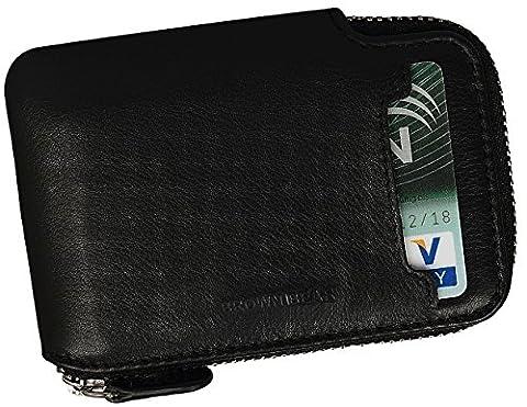 Brown Bear Kreditkartenetui Geldbörse Leder schwarz David bk