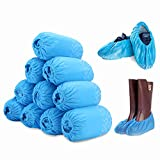 100 Pack Disposable Boot & Shoe Covers, Ultra Large Shoe Covers with Triple Non-Slip Protection, Durable & Water Resistant, Available for Traveling, Indoor & Outdoor Occasions, Fits up to Men Size 12
