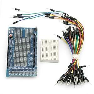 SainSmart&reg Prototype Shield ProtoShield V3 + Mini Breadboard with Free Jump Wires for Arduino UNO MEGA Nano DUE Robot