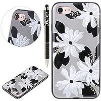 iPhone 7 Hülle,SainCat Farbe Blume Muster Hülle Weiche TPU Rahmen mit Hartem PC Rückdeckel Handyhülle mit Bändselloch... preisvergleich bei billige-tabletten.eu