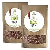 ProVista Protein Müsli 45% - Eiweiss-Muesli Low er Carb 1500g vegan (Schoko)