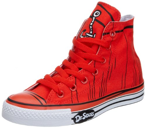 Converse Chuck Taylor All Star pour adulte Unisexe imprimé Dr Seuss Thing Hi Trainer Orange