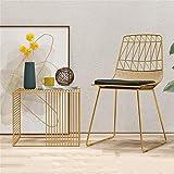ALUK - High stools/Folding chairs Barstuhl Eisen Esstisch Und Stuhl Restaurant Golden Simple Stuhl Freizeit Stuhl Last 200kg