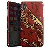 DeinDesign Apple iPhone XS Max Hülle Premium Case Cover Marmor Look Rot Marble