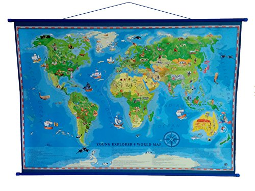 young-discoverer-laminated-world-map-140cm-x-100cm-with-light-blue-hangers