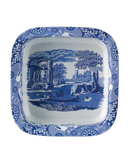 Spode Blue Italian Square Dish Blue Square Dish