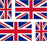 4 x Autocollant sticker voiture moto valise pc portable drapeau uk royaume uni u