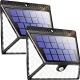 Luposwiten 82 LED Focos Solar Exterior,1640LM Luz Solares, 370°Gran Angular Luces Solares Impermeable para Jardín, Patio,Garaje, Terraza, Caminos, Escalera Lámparas Solares Exterior (2 Paquete)