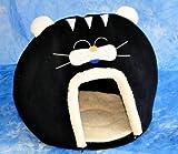 Schicke Katzenhöhle in interessantem, aussergewöhnlichen Catlook-Design – Gr. XL 60×50 cm – SCHWARZ – 30305 - 2