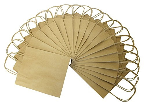 Preisvergleich Produktbild Folia 21810 - Papiertüten Kraftpapier, 18 x 8 x 21 cm, 20 Stück, natur