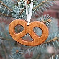 Christbaumschmuck aus Holz | Brezel | Tannenbaumschmuck | Weihnachtsbaumschmuck | handgemachte Holz Anhänger | Geschenkanhänger | Weihnachtsdeko