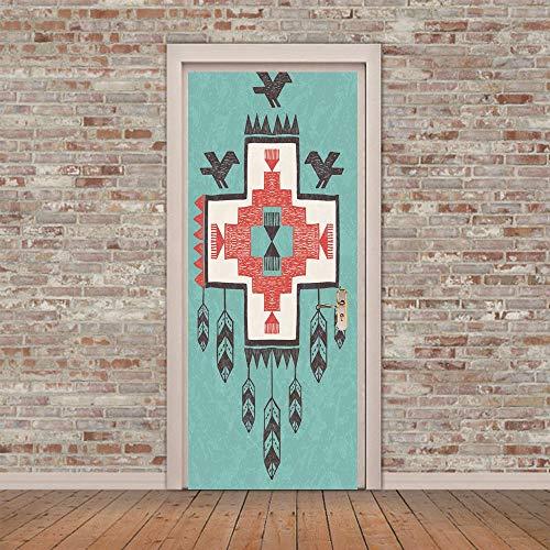 Adesivi murali 3d adesivi per porte indiano tappeto volante (77x200 cm) in vinile di alta qualità murale arte wallpaper per la famiglia camera da letto soggiorno paesaggio decor