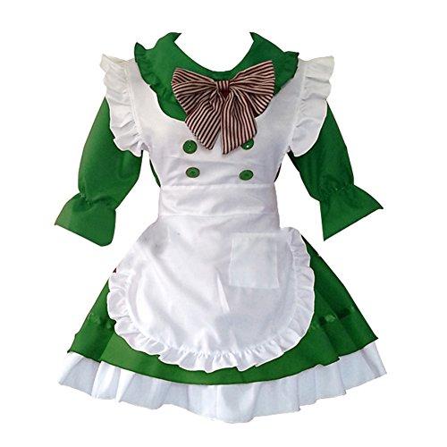 Imagen de m&a criada cosplay disfraz mujer traje fámula moza anime japonesa para carnaval halloween navidad,verde,m