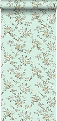 Tapete Blumen Meeresgrün - 326131 - von Origin - luxury wallcoverings