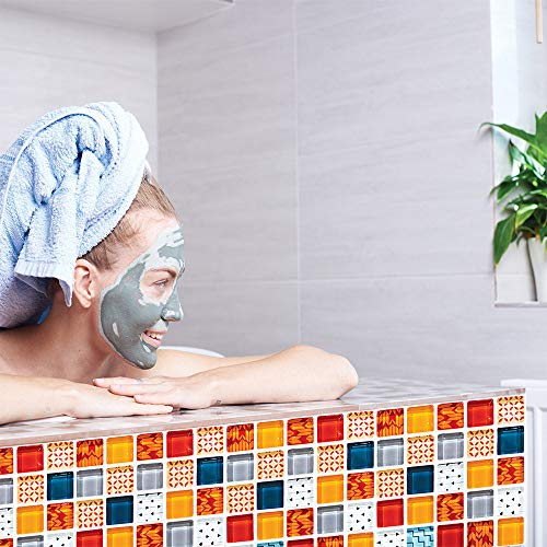 Mosaico Efecto 3D Pegatinas Baldosas,Azulejos Mosaico
