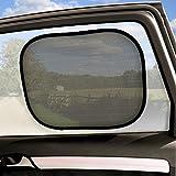 igadgitz Pack de 2 Pare-Soleil Universel Pliable Fenêtre de Voiture Installation Facile Protection Anti-UV Bébé Enfant Animaux