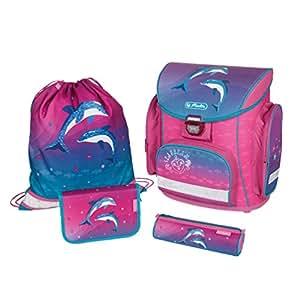 Herlitz 11407723 Schulranzen Midi Plus Dolphin Love