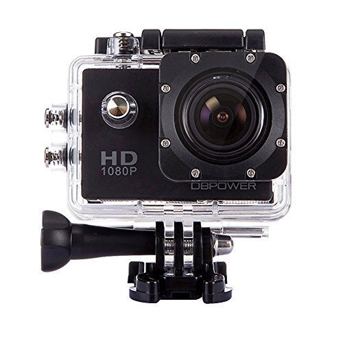 DBPOWER 1080P wasserdichte Action Kamera DV 12MP HD DVR Camcorder + Montage Zubehör Kit schwarz