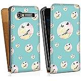 Samsung Galaxy S Advance i9070 Sacoche Housse de Protection Walletcase Bookstyle Oiseau Papillon Motif