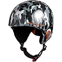 Quiksilver The Game - Casco de snowboard para niño, Multicolor (Negro/Naranja)