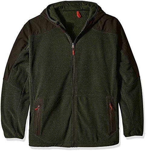Champion Men's Hooded Textured Fleece Jacket - Big Sizes