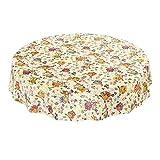 ANRO Hule Cera Mantel encerado mantel mantel búho multicolor tamaño a elegir, plástico, sättige, beständige Farben, Rund 140cm
