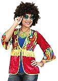 KarnevalsTeufel Hippie Renny Hippie-Weste für Damen 70er Jahre Flower-Power-Outfit (46)