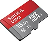 SanDisk Ultra A1 16GB Class 10 Ultra microSD UHS-I Card with Adapter (SDSQUAR-016G-GN6MA)