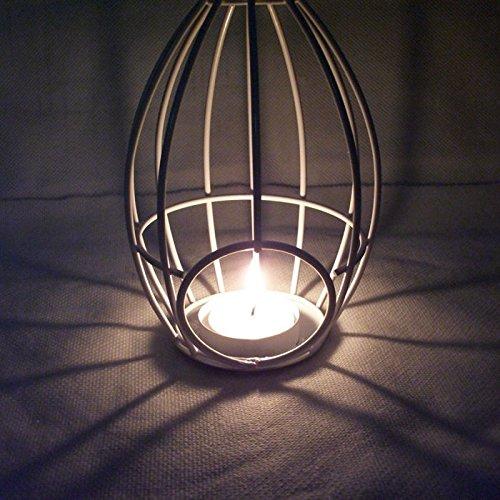 RENQINGLIN Eisen Kerze Laterne Dekoration 9,5 * 17 Cm Romantische Vogelkäfig (Krone Vogelkäfig)