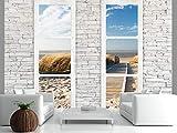 murando - Fototapete Fenster Meer 3...