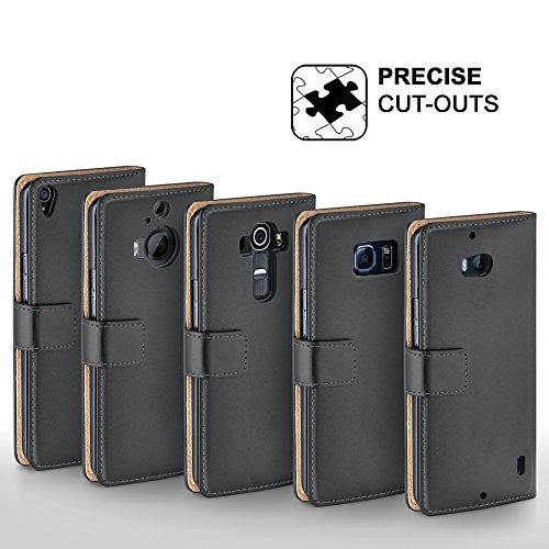 iPhone 6S Plus Hülle Schwarz mit Karten-Fach [OneFlow 360° Book Klapp-Hülle] Handytasche Kunst-Leder Handyhülle für iPhone 6 Plus / 6S + Plus Case Flip Cover Schutzhülle Tasche ANTHRACITE-GRAY