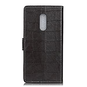 SHIEID® Nokia 7.1 Case Wallet Leather Flip Case Card Slots Secure Magnetic Closure Lock Leather Case Cover For Nokia 7.1 With bracket function (Black)