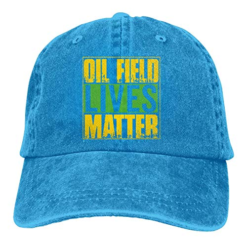 huge selection of 97a3b 19f87 Ingpopol Men Women Adjustable Denim Fabric Baseball Caps Oil Field Lives  Matter Trucker Cap